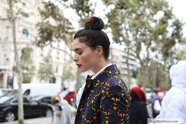 Paris Fashion Week hairbun