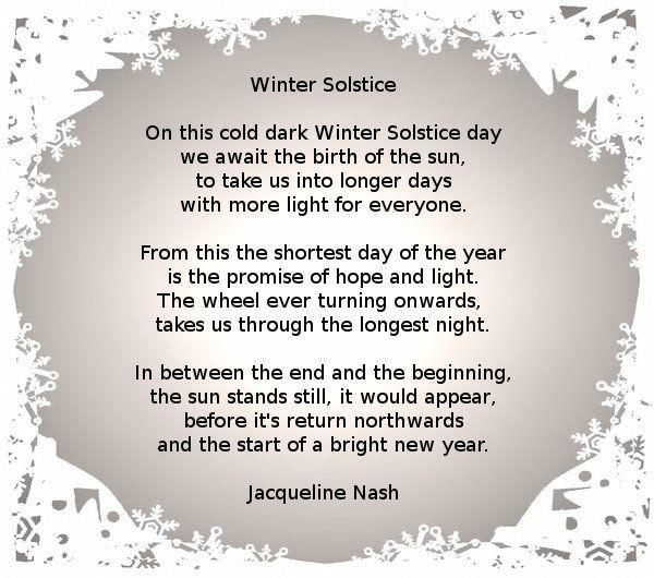 Poem Winter Solstice Yule By Jacqueline Nash