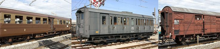 Various types of trains in Italy. http://www.leferrovie.it/leferrovie/wiki/doku.php?id=app:censimento