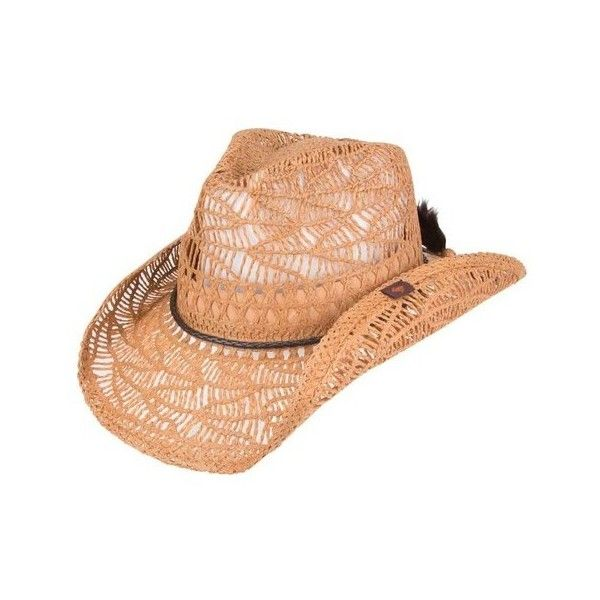Peter Grimm Abilene Straw Hat ($36) ❤ liked on Polyvore featuring accessories, hats, green, cowboy hat, band hats, woven straw hat, woven cowboy hat and peter grimm hats
