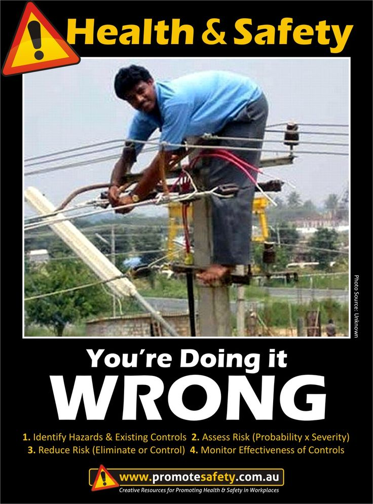 Health Amp Safety You Re Doing It Wrong Electricity