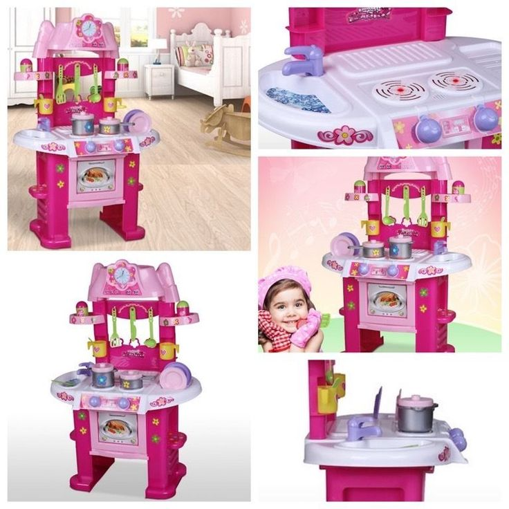 Pink Kitchen Toy Oven Cooker Play and Learn Machine