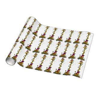 Christmas Giraffe Wrapping Paper