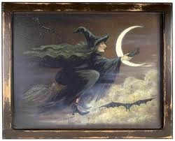witch: Victorian Witch, Vintage Halloween, Witch Paintings, Halloween Witch, Duckbil Platypus, Hallows Eve, Fallth Haunted, Victorian Trade, Vintage Witch