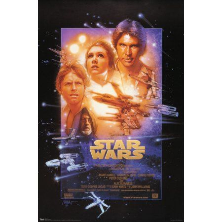 Trends International Star Wars Episode 4 Collector's Edition Wall Poster 24 inch x 36 inch, Multicolor