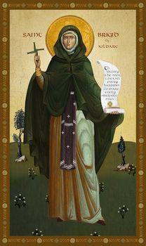 St. Brigid of Kildare icon by Uncut Mountain Supply