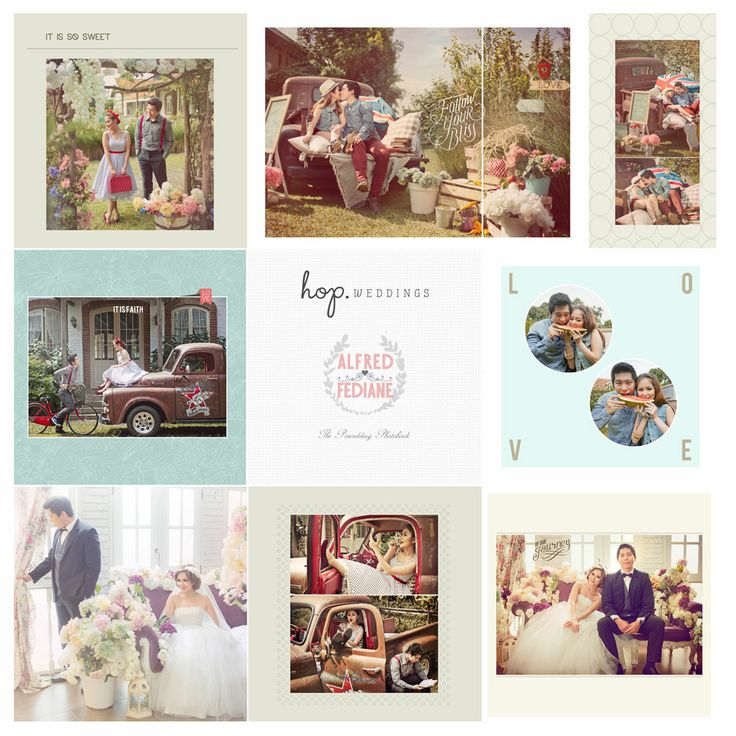 Alfred & Fediane Prewedding Photobook Preview, photo by HOP, edit & design by Wenny Lee