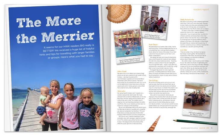 Signature Media Internship Holidays with Kids magazine layout and design.