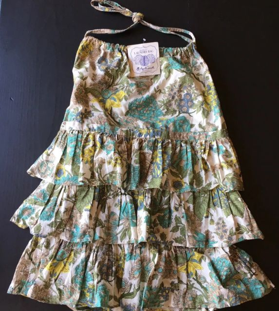 April Cornell Laundry Bag Ruffles NWT Blue Green Yellow Floral | eBay