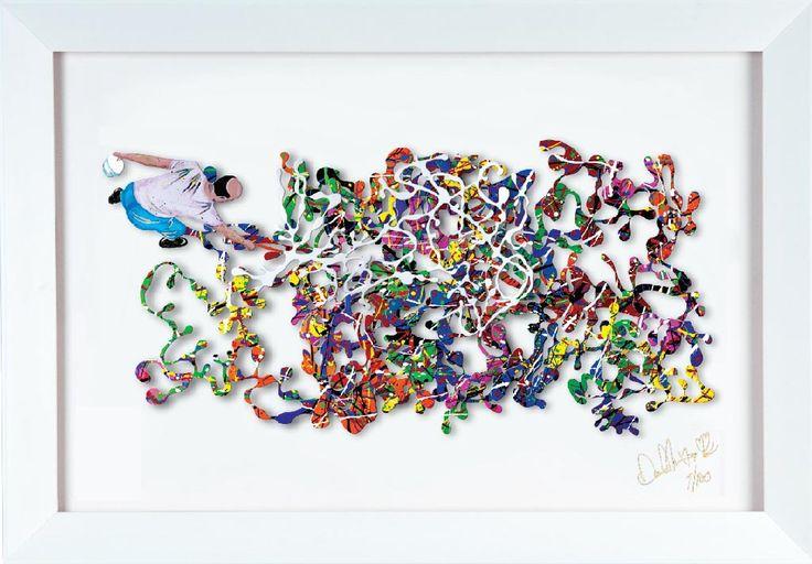 Pollock (3/100) PUB (Carton) par David Kracov, artiste présentement exposé aux Galeries Beauchamp. www.galeriebeauchamp.com