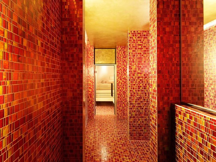 Have you ever imagined a SPA completely cladded with  Red Mosaics?