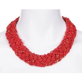 A bold collar of red to enhance a smart summery outfit. Heads will turn!