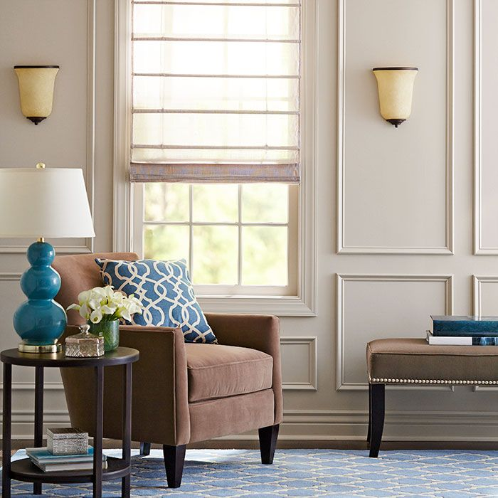 Dress up your living room with millwork. The delicate