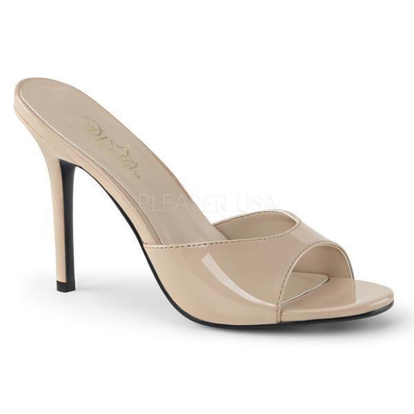 PleaserPleaser Classique-20 - Zapatos de Tacón Mujer, Color Beige, Talla 36