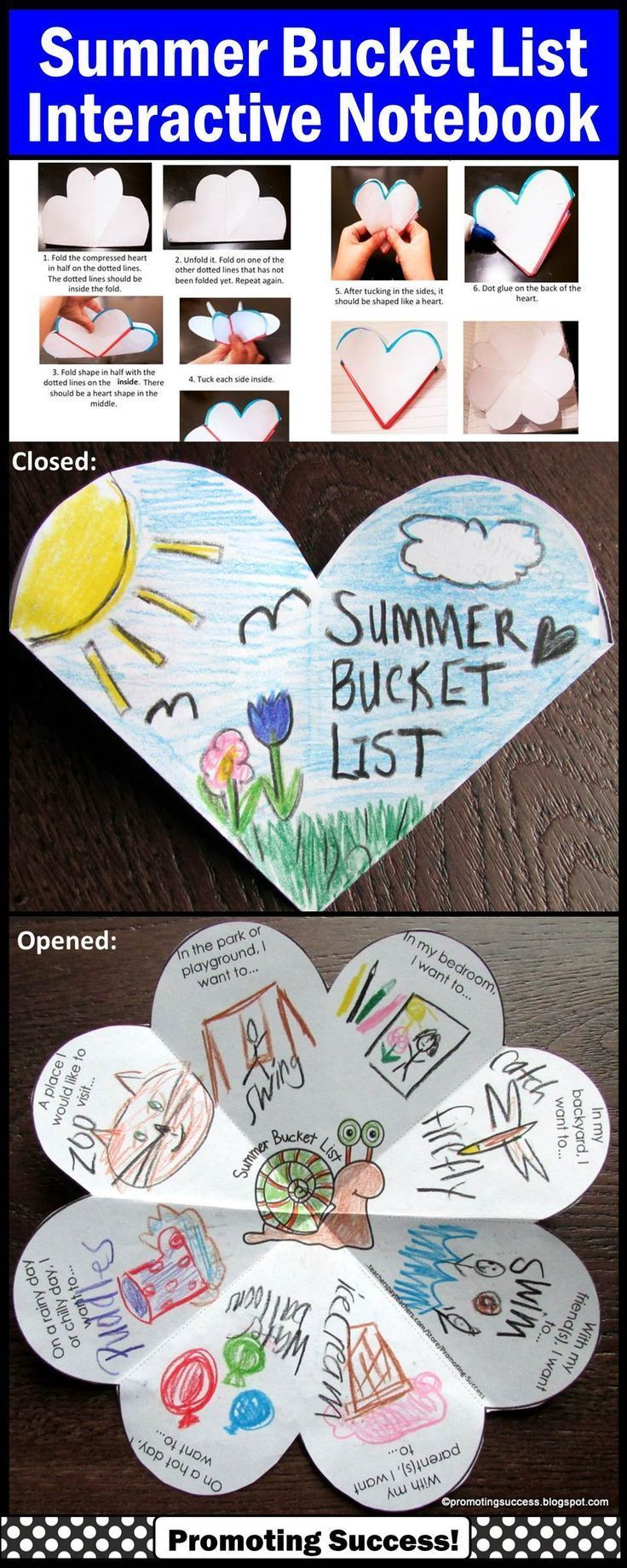 Summer Bucket List - End of the School Year Activity: In this packet, your students will be drawing or writing about their summer bucket list. The are seven variations of the ONE template, including open-ended options to meet the individual needs of all your students. This summer bucket list craft activity works well year after year for multiple grade levels due to the different templates and writing or drawing options…