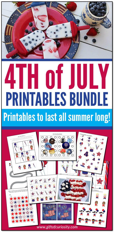 4th Of July Printables Bundle In 2021 Creative Activities For Kids Science Activities For Kids Kids Learning Activities [ 1500 x 735 Pixel ]