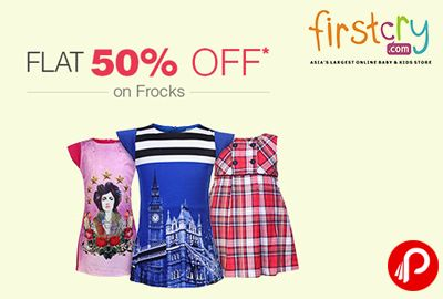 #Get Flat 50% off on Frocks | Children's Day Celebrations - Firstcry