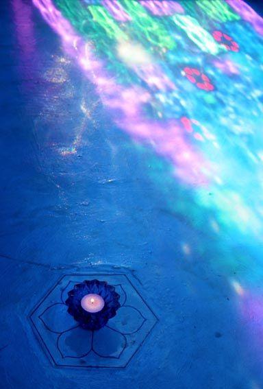 Meditation chamber at Temenos Resort in McGregor, Western Cape
