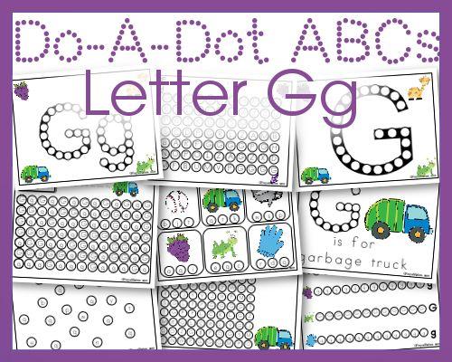 Do a Dot Letter Gg Free Printables for Letter Practice