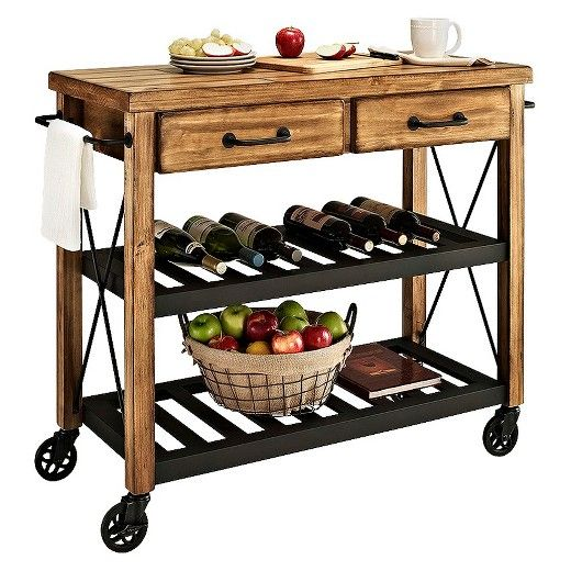 Crosley Roots Rack Industrial Kitchen Cart In Natural: Best 25+ Rustic Utility Carts Ideas On Pinterest