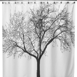 Tree shower curtain from bed bath and beyond. Put on canvas and makes great art for bedroom! DIY