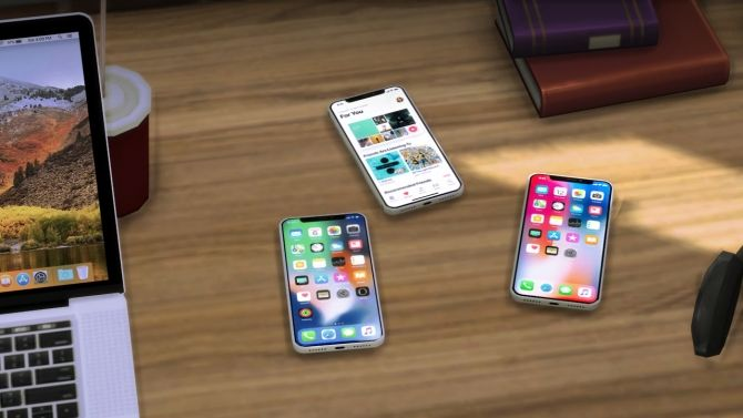 iPhone X Default Replacement, Clutter and Speaker at Moon • Sims 4 Updates