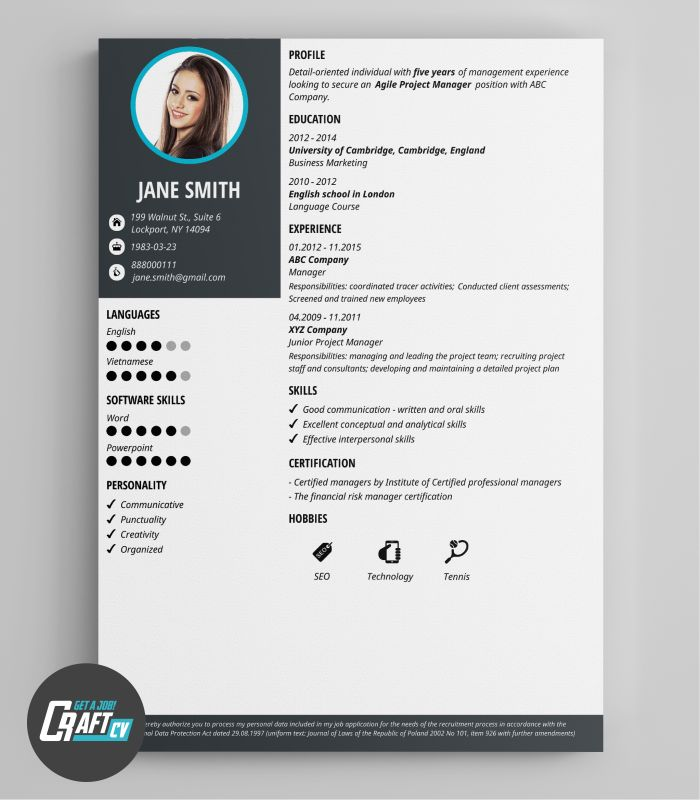 13 best images about Creative CV Templates - CV Builder on ...