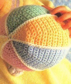 "Original pinner said, ""Crochet Baby Ball - Free pattern."" #free #pattern #crochet"