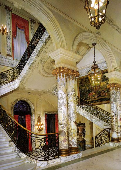 The grand staircase of The Elms (Newport, RI)...for some reason this has always been my favorite mansion, even if it's not on the water...