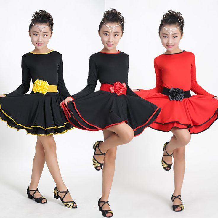 Cheap dance dress for girls, Buy Quality latin dance dress directly from China dance dress Suppliers: Red Ballet Latin Dance Dress For Girls Samba Dress Dancing Dress Girl Dancewear Kids Kid Costume Vestido Baile Latino