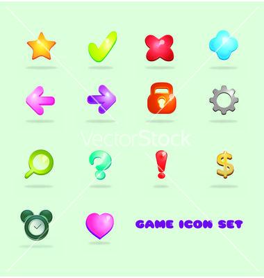 Game icon set vector 2966506 - by Fatichah on VectorStock®
