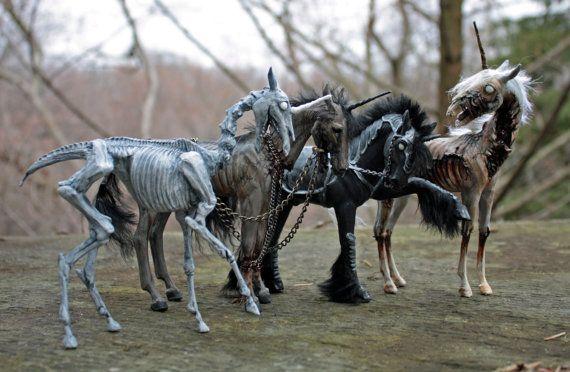 Les quatre cavaliers de l'Apocalypse licornes SET par scenceable