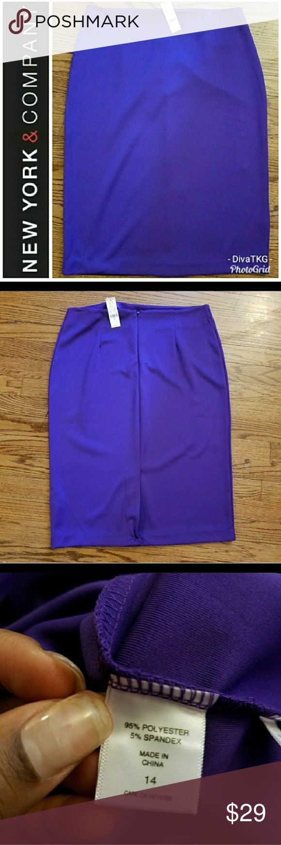 New York and Company Purple Pencil Skirt New With Tags. New York & Company Skirts Pencil