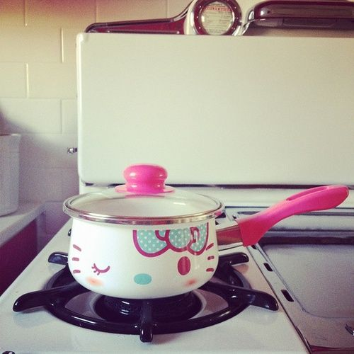 Cooking with Hello Kitty