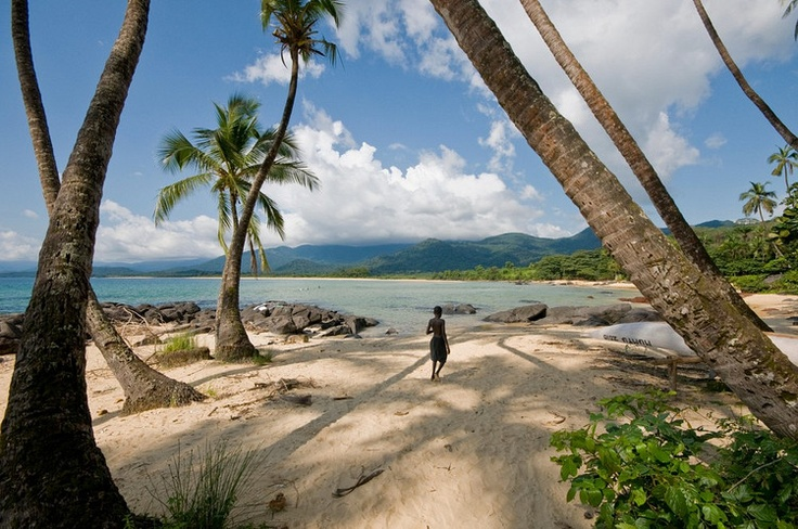 Bureh Beach, Sierra Leone. A photograph can never do this treasure justice. It has to be seen to be believed.