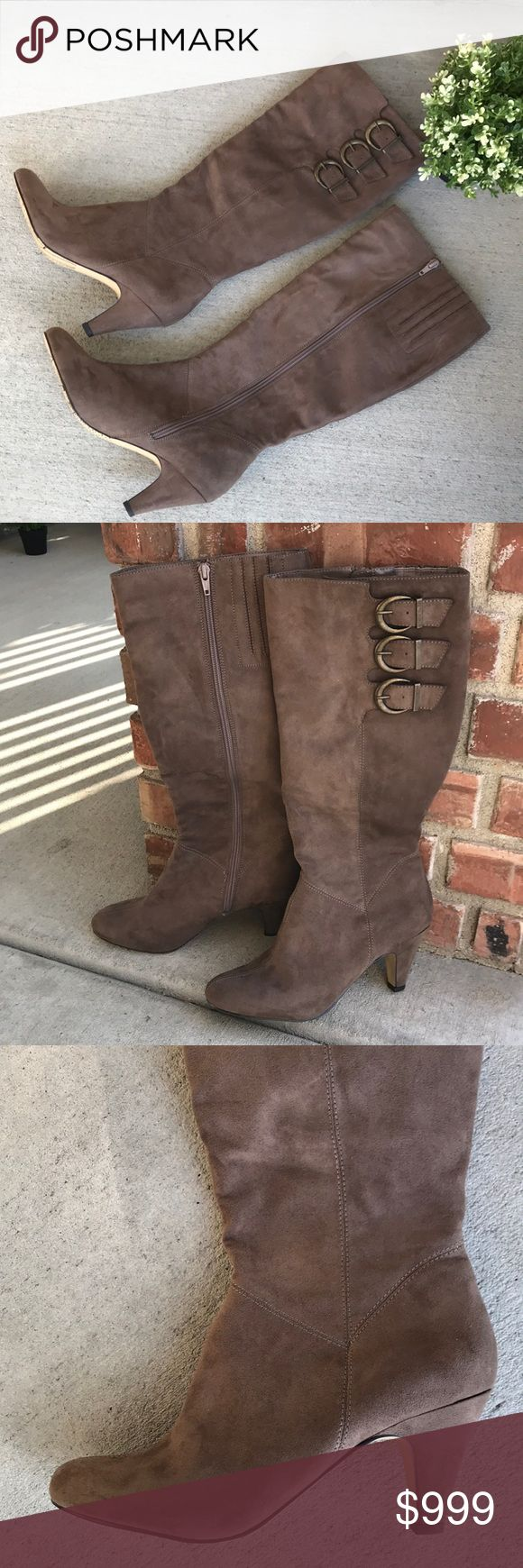 """Bella Vita Suede Boots Like new! 💛💛💛Love these!!! Bella Vita Suede-like man made material heeled  Boots. Size 8.5 Heel height 2 3/4 & boot height 18"""". Bella Vita Shoes Heeled Boots"""