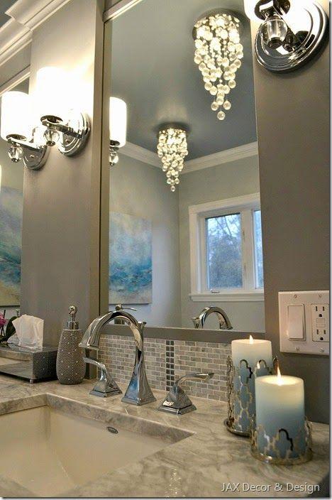 Master bathroom lighting