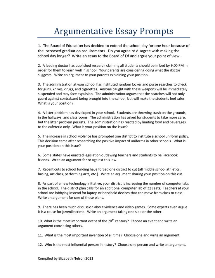 how to write an argumentative essay about education