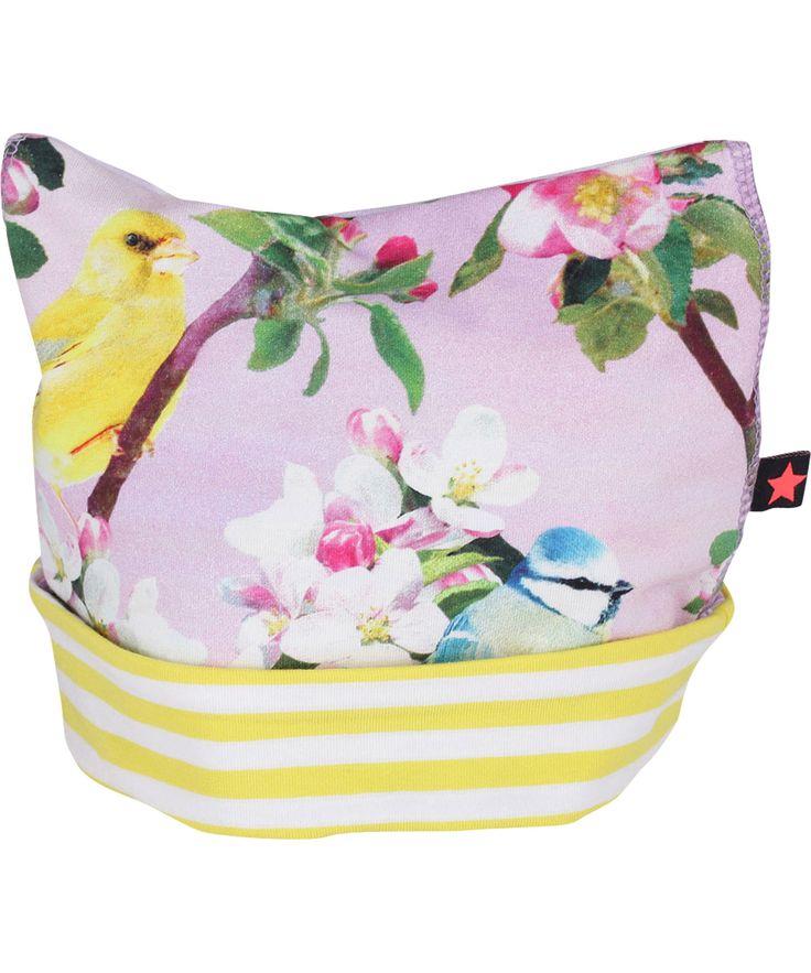 Molo Charming Beanie with Soft Apple Bloom print #emilea