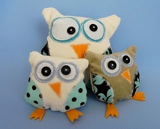 tutorial stuffed owl with pattern