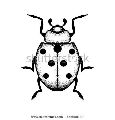 Hand drawn #ladybug #pointillism