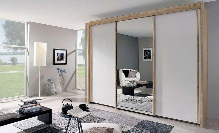 300cm amalfi door grey mirror oak rauch silding silk