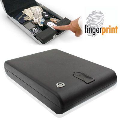 [$76.60] Portable Fingerprint Safe Biometric Electronic Security Gun Jewellry Money Box(Black)