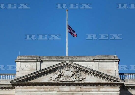 Flags at half mast, London, Britain - 03 Jul 2015  The Union Flag above Buckingham Palace is flying at half mast today in memory of the 30 British tourists that died in the terrorist attack in Sousse, Tunisia last week.  3 Jul 2015