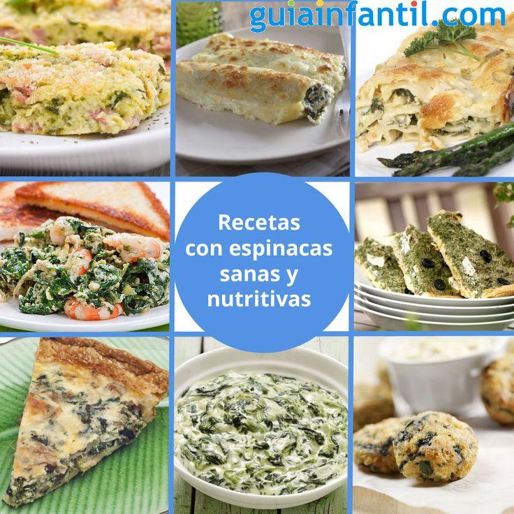Las espinacas hidratan, tienen vitaminas, minerales, fibra y ácidos grasos Omega 3, ¿podemos pedir más? http://www.guiainfantil.com/recetas/verduras/recetas-de-espinacas-para-ninos/