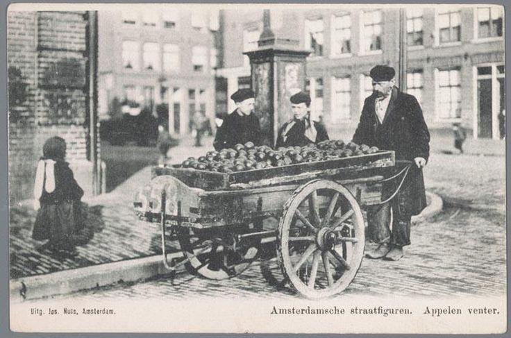1902ca. Appelventer in de Amsterdamse jodenbuurt
