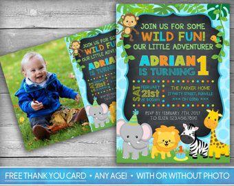 Monkey Invitation  Monkey Invite  First Birthday Invitation
