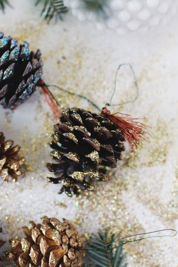 Creating Your Own Traditions: DIY Pinecone Ornaments | Free People Blog #freepeople