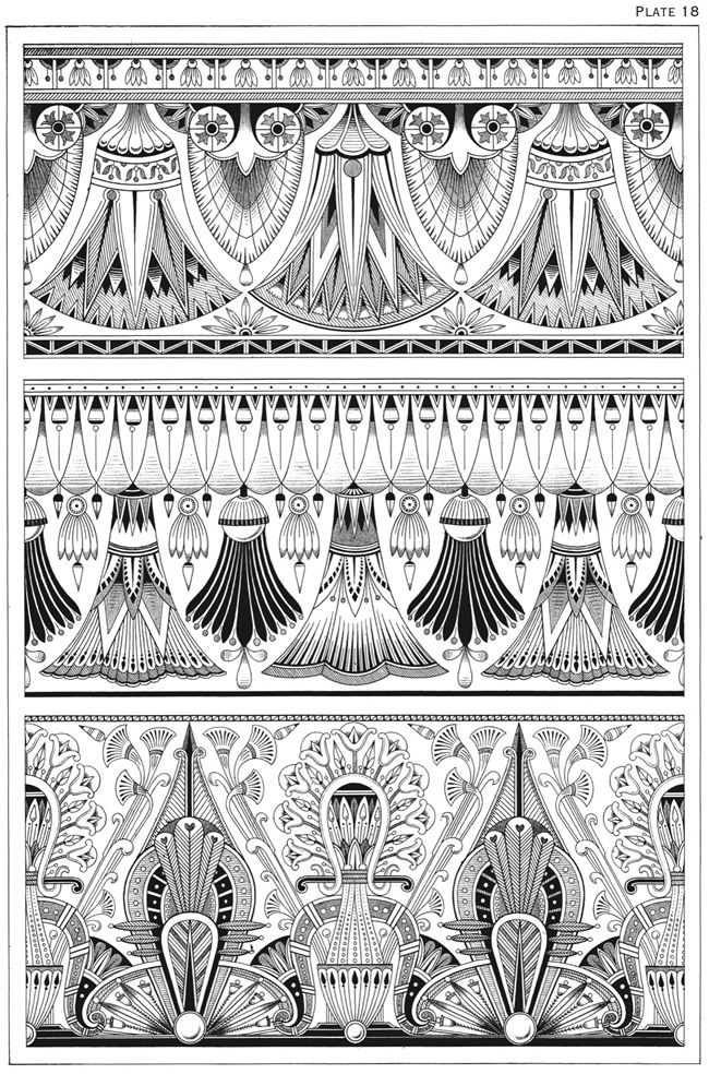 welcome to dover publications egyptian motifs in the art deco style art deco pinterest. Black Bedroom Furniture Sets. Home Design Ideas