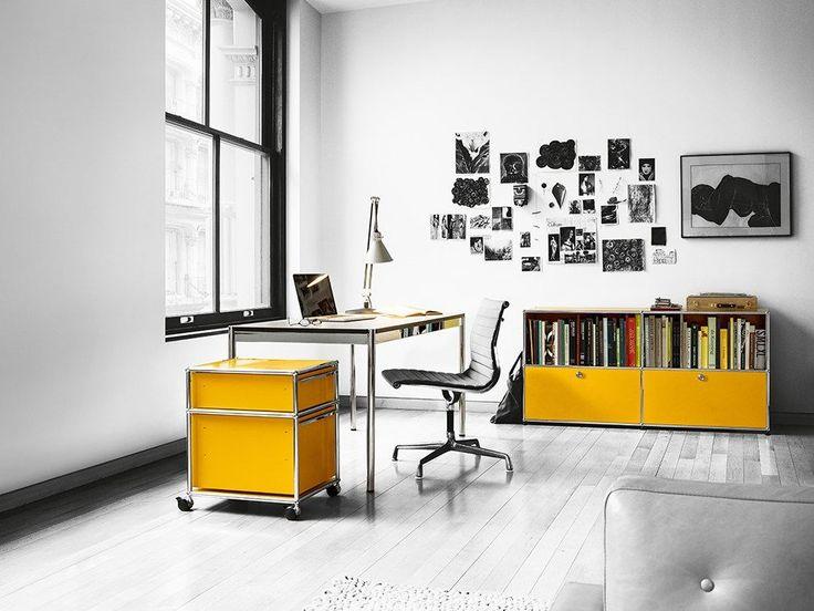 USM HALLER HOME OFFICE TABLE Secretária Ajustável Em Altura By USM Modular  Furniture Design Fritz Haller. Bürotisch DesignSchreibtischZeitgenössischen  ...